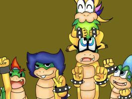 My 5 fave koopalings by lucario-sensei