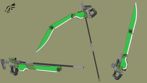 'Fell Cyclone' - RWBY OC Weapon (Commission) by DenalCC1010