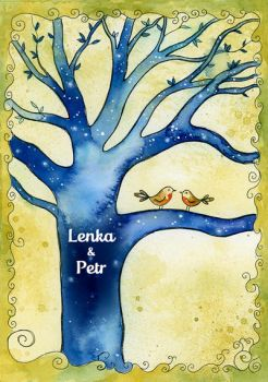 Wedding Invitation for Lenka by LucieOn