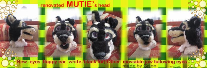 renovated fursuit head by Grion