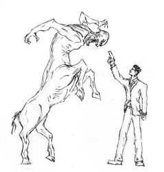 Mr Enright and the Centaur by LTrain
