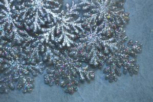 Glitter snowflake texture 2 by ellemacstock