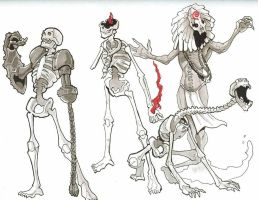 variant skeletons and zombie by Pachycrocuta