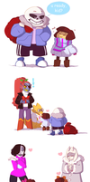 Undertale: Merry Christmas !! by kyoukorpse