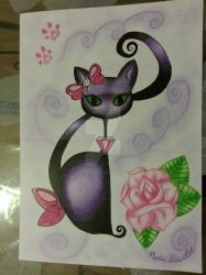 Glamour Cat by MysticLineCreations