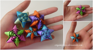 Origami Straw Stars by OrigamiPieces