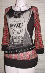 nirvana tunic top by smarmy-clothes