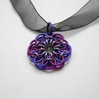 Violet on Purple Celtic Flower by Utopia-Armoury