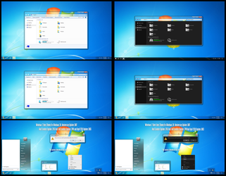 Win7 Dark And Light Aero Theme Win10 April 1803 by Cleodesktop