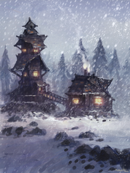 Tower Snow by JoshuaNel