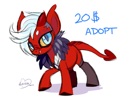 Warrior Demon Pony Adoptable Auction by Wicklesmack