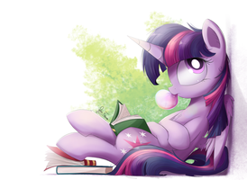 The book head corner by Bugplayer