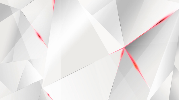 Wallpapers - Red Abstract Polygons (White BG) by kaminohunter