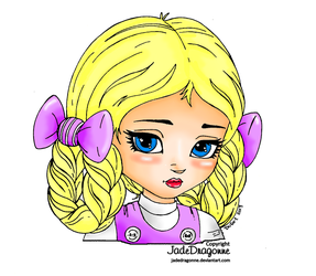 Braids'n Bows colored by CreepyForever