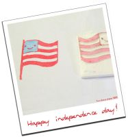 Independence day stamp by restlesswillow