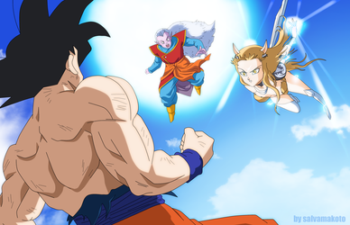 goku vs uma (universo 3) by salvamakoto