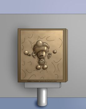 Toadette in Carbonite by Master-Geass