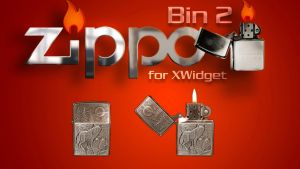 Zippo Bin 2 (animated) for xwidget by Jimking