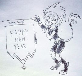 Happy Mew Year 2018! by firagare