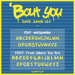 SUPER JUNIOR DnE BOUT YOU Font by hyukhee05