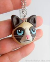 Grumpy Cat Necklace by Olechka01