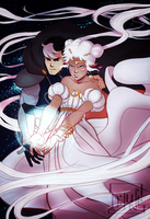 Shiro and Allura (Sailor Moon AU) by DJune-y