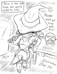 Day14: Cowgirl Witch Resents mstr n' watches clock by GrayDustOA