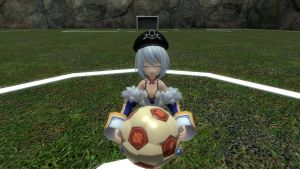 Sophie want to play soccer by Soulmourn