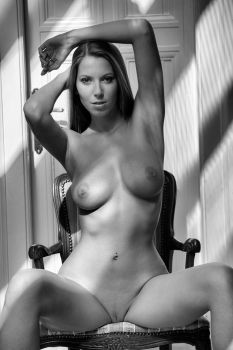 nude on a chair (lizzy) by johndeckardphoto
