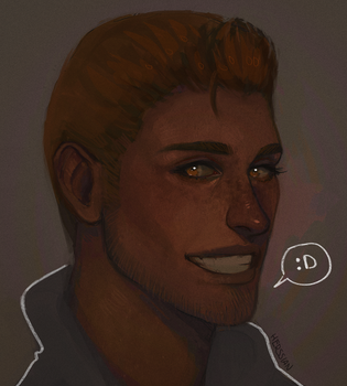 Alistair doodle by Herssian