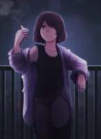 Smoke Break by Chromatic-drip