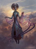 Zachriel - Angel of Memory by PeteMohrbacher