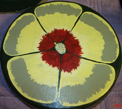 Yellow Pansy Stepping Stone by EllaRow