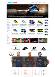 Sports Gear Webpage by KustomzGraphics