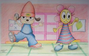Parappa and Sunny Funny by Freddy-Kun-11