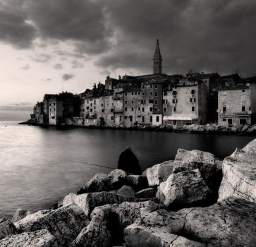 Fisherman and Rovinj... by denis2