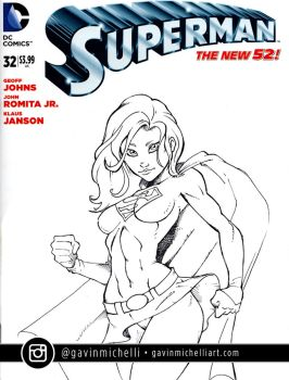 Supergirl Sketch Cover by GavinMichelli