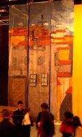 Carmen stage design: The town by wingsfell