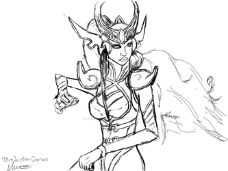 League of Legends Syndra Fan Art Sketch by S-ProductionGames
