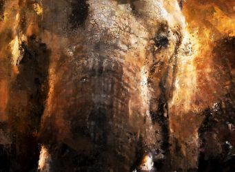 Elephant by Cr8ivDigitalPainting