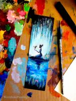 Princess and the Frog bookmark :) by WormholePaintings