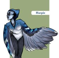 Blue Jay Harpie by arswiss