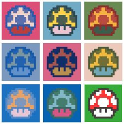 8bit Mushrooms by jotun