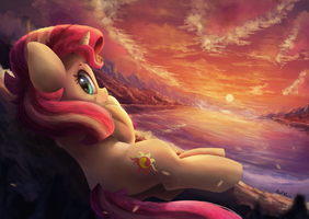 Sunset at Sunset [Collab] by VanillaGhosties