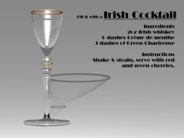 Irish Cocktail Glass by DIN1031