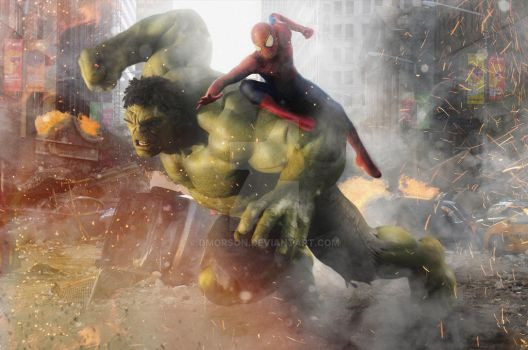 Marvel Team-Up featuring Spider-Man and Hulk by dmorson
