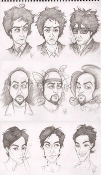 Black Books Character Sketches by Elusive-Angel