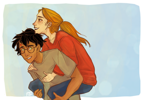 Harry and Ginny by clarinking