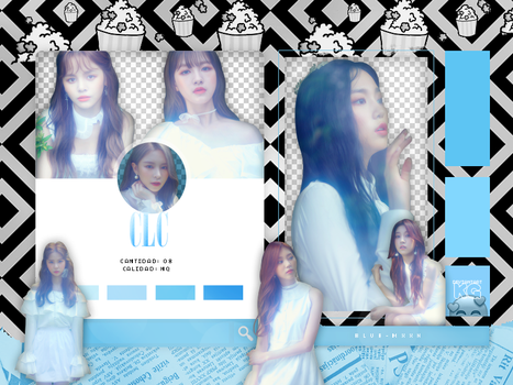 CLC | FREE'SM #1 BLUE | PACK PNG by KoreanGallery
