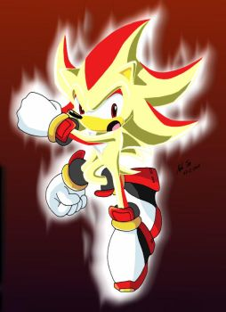 Super Shadow The hedgehog by shandyshadow